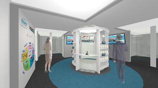 デジタルサイネージ体験型ショールームをオフィス内に開設